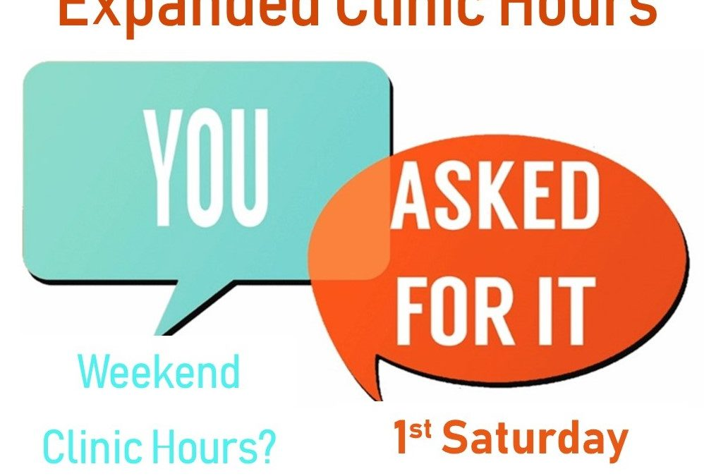Weekend Clinic Hours
