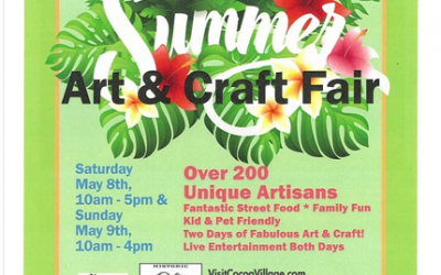 Come visit us at the Cocoa Village Summer Craft Fair